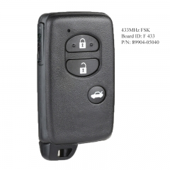Smart Remote Key FSK 433MHz for Toyota Board ID: F433 OEM P/N: 89904-05040