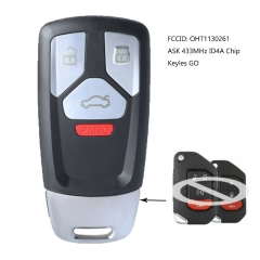 Upgrade Smart Proximity Remote Key ASK 433MHz 4A FOB for Jeep Wrangler 2018-2021 FCCID: OHT1130261
