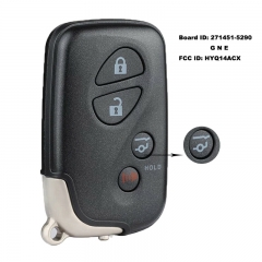 Smart Remote Key Fob 4 Button 312/314MHz/ 315MHz/433MHz for Lexus RX350 RX450H FCCID: HYQ14ACX Board ID: 271451-5290 G N E