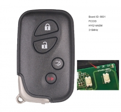 Smart Remote Key 312MHz/314MHz/433MHz for Lexus ES350 IS250 IS350 IS-F 2012-203 FCCID: HYQ14AEM Board ID: 271451-6601